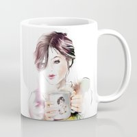 cup Mugs featuring cup by tatiana-teni