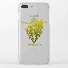 Team Instinct - Dark Crystal Clear iPhone Case