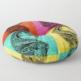 Many Faces Floor Pillow