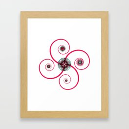 Sacred Geometry Spiro Framed Art Print