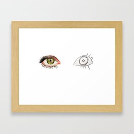 The Other Eye // drawing the reflection pet peeve Framed Art Print