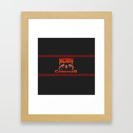 Christmas sweater for Doomguy Framed Art Print