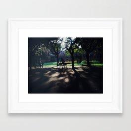 Training in the dark Framed Art Print