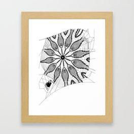 Boho Webs Framed Art Print