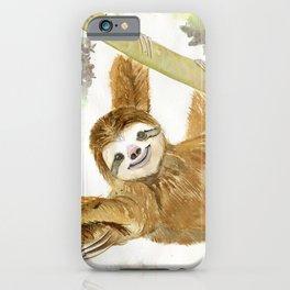 Smiley Sloth iPhone Case