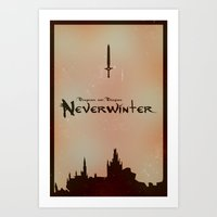 dungeons and dragons Art Prints featuring Dungeons and Dragons: Neverwinter Fan Artwork by Thomas Mackintosh