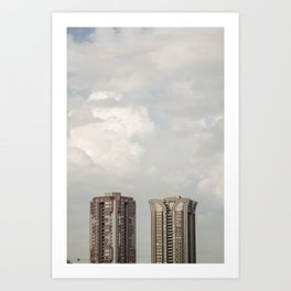 Big buidings used contemporary architecture Art Print