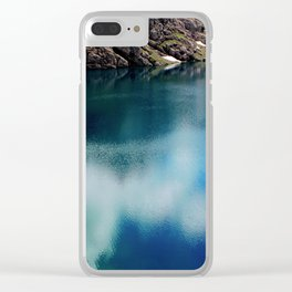 lake in mountains Clear iPhone Case