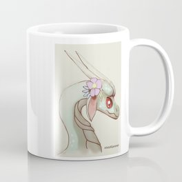 Dragon and Flowers II Illustration Art Cartoon Mythical Fantasy Pastel Coffee Mug
