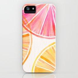 Summer Citrus Party iPhone Case
