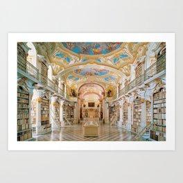The Magnificent Admont Abbey Library of Admont, Austria Photograph Art Print