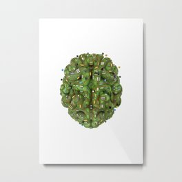 Circuit brain Metal Print