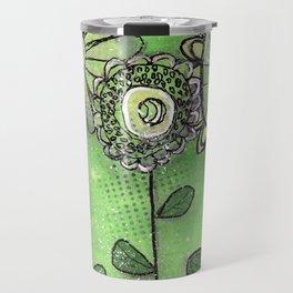 Flower Trio in Green by Deborah Halcomb aka Daytona Damsel Travel Mug