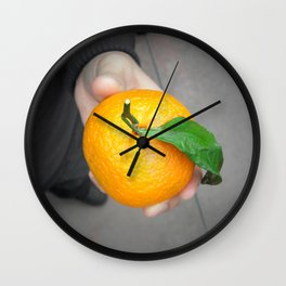 california orange Wall Clock