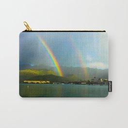 Hawaii Double Rainbow Carry-All Pouch