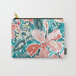 HELLO HIBISCUS - CORAL Carry-All Pouch