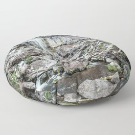 Rock Land Waterfall // Natural Beauty Wilderness Photography Decoration Floor Pillow
