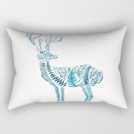 green deer watercolor Rectangular Pillow