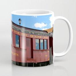 Red Railroad Car - Cumbres And Toltec Coffee Mug