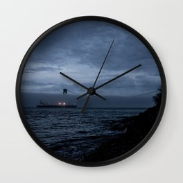 Verrazano Bridge: In Blue Wall Clock