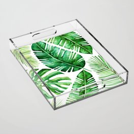 Tropical leaves Acrylic Tray