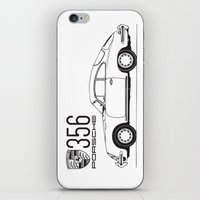 porsche iPhone & iPod Skins featuring porsche 356 by kartalpaf