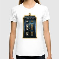 221b T-shirts featuring Tardis doctor who Mashup with sherlock holmes 221b door by Three Second