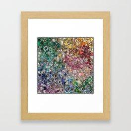 Diamonds, Jewels, (Gems & The Hologram) Framed Art Print
