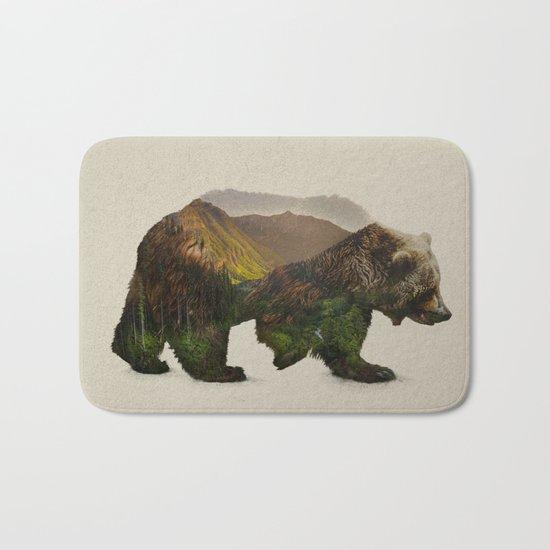 North American Brown Bear Bath Mat