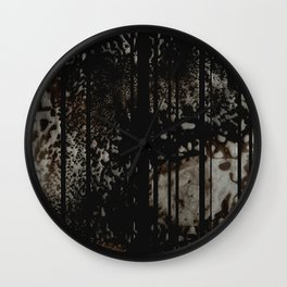 FLows and Stripes  Wall Clock