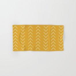 V / Yellow Hand & Bath Towel