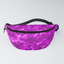 A chaotic cluster pink bodies on a light background. Fanny Pack