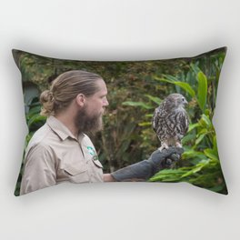 Zoo Keeper And The Owl Rectangular Pillow