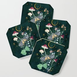 Mushroom night moth Coaster