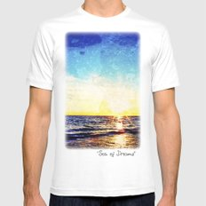 Sea of Dreams MEDIUM White Mens Fitted Tee