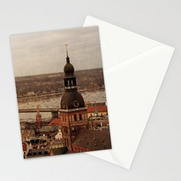 Riga from above Stationery Cards