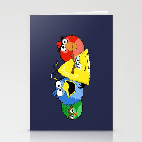 Angry Street Birds Stationery Cards