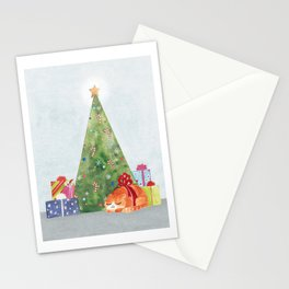 The fluffiest present Stationery Cards