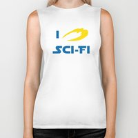 sci fi Biker Tanks featuring I heart Sci-Fi by ihearteverything