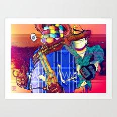 Choclo y Salcedo en el oeste Art Print