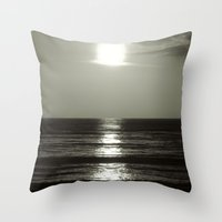 abyss Throw Pillows featuring Abyss by Monica Ortel ❖