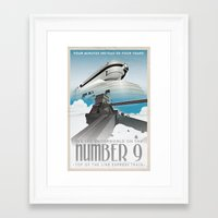grim fandango Framed Art Prints featuring Grim Fandango Vintage Travel Posters - The Number Nine by David MacKenzie