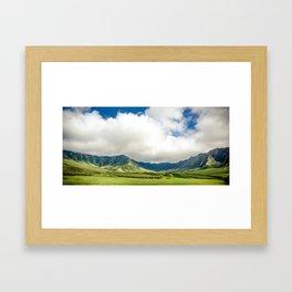 Ewa Mountain Ridge - Oahu Hawaii Framed Art Print
