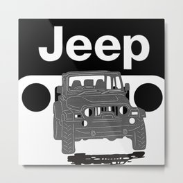 Jeep On the road Metal Print