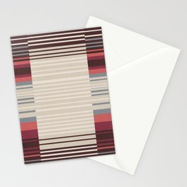 Bauhaus Stripe in Red Multi Stationery Cards