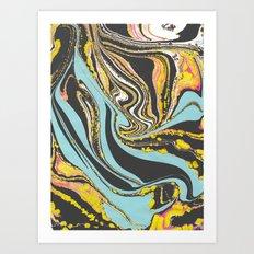 Wavy Marbling Art Print