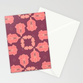 Mauve Geo Flourish Stationery Cards