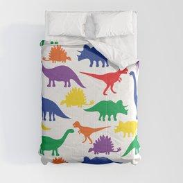 Dinosaurs - White Comforters