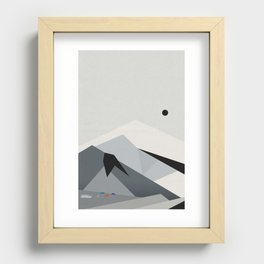 View From Skógafoss Recessed Framed Print