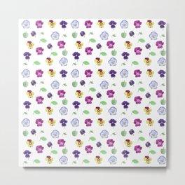viola pattern Metal Print